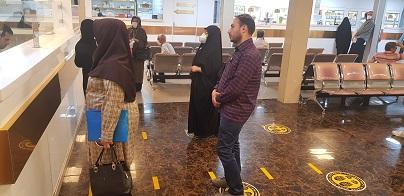 درمانگاه حضرت بیه الله الاعظم(عج)-رعایت فاضله اجتماعی.قم.فاصله اجتماعی.درمانگاه قم